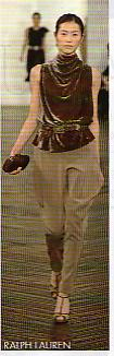 Drapé pantalon top Ralph Lauren