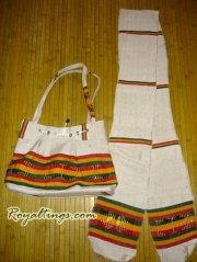 sac et écharpe éthiopiens