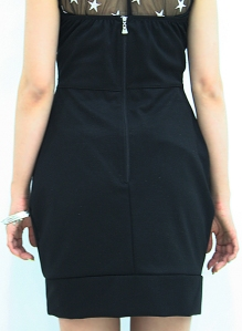 zipped back dress